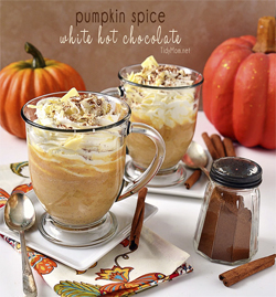Pumpkin Spice White Hot Chocolate at Tidy Mom