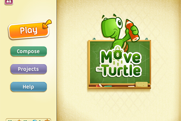 Screen shot from the Move the Turtle game.