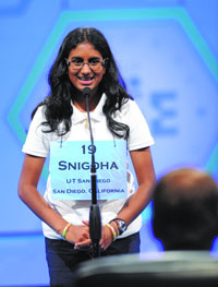 teen wins national spelling bee snighda