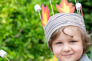 How to Make a Campfire Crown