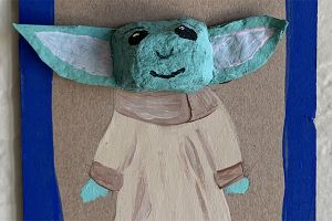 Art with Alyssa: Baby Yoda Portrait Craft