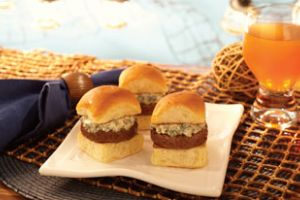 Father's Day Blue Cheese Sliders