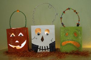 Tissue Box Lanterns