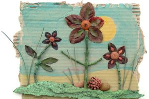Earth Day Flower Art