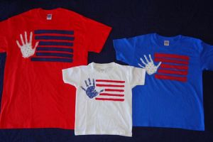 DIY American Flag Shirts for July 4th
