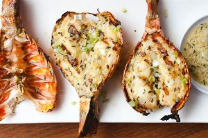 Sam the Cooking Guy's Grilled Lobster Tails with Thyme Butter