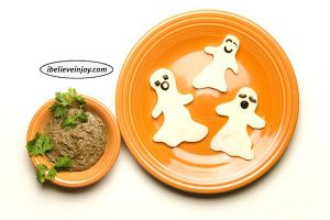 Snacking With Joy: Friendly Ghost Jicama and Dip