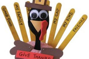 Thankful Turkey Thanksgiving Craft